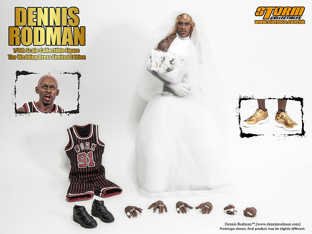 storm collectibles dennis rodman wedding dress limited edition