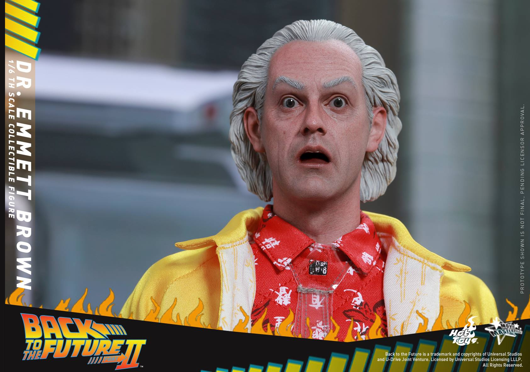 Hot Toys Doc Emmett Brown Back To The Future 2