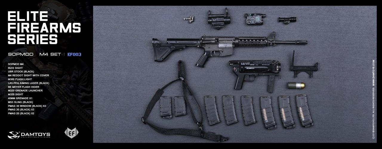 1//6 DAM DAMTOYS Elite Firearms EF004-5 Angled T1 Style Offset Sight