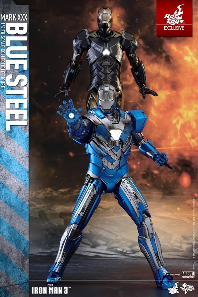 Hot Toys Blue Steel Iron Man 3