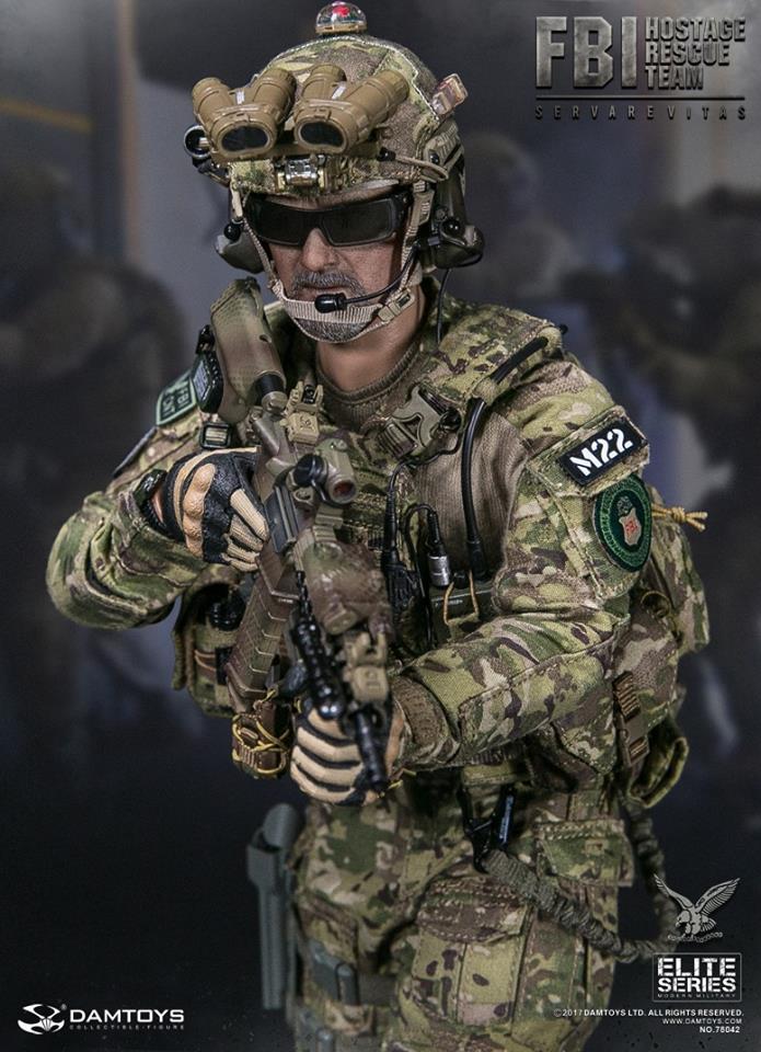 """DAMTOYS 78042 FBI HRT 1//6 Scale Helmet Set for 12/"""" Action Figure"""