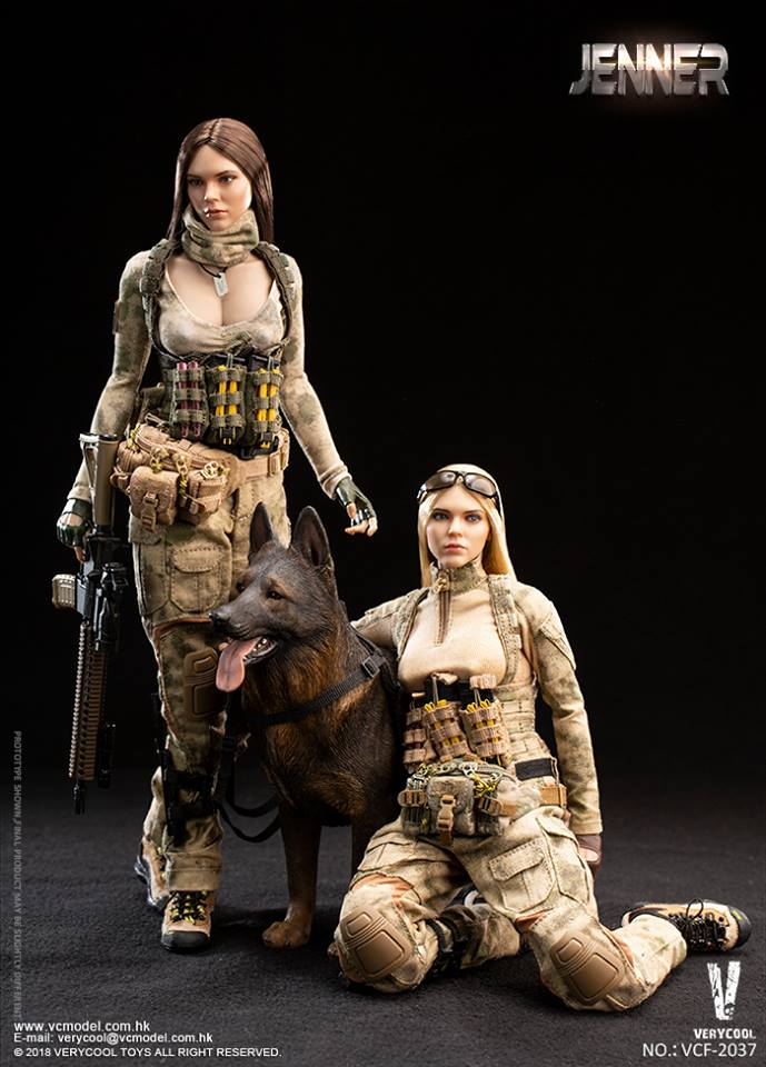 "VERYCOOL VCF-2037B 1//6 Scale Female Soldier Jenner 12/"" Figure Combat Boots"