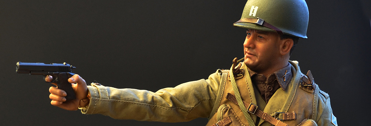Facepool Figure: WWII U.S. Ranger Captain 2nd Ranger Battalion – France 1944